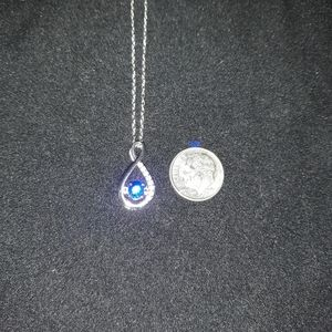 New Caperci Sterling Silver CZ Necklace